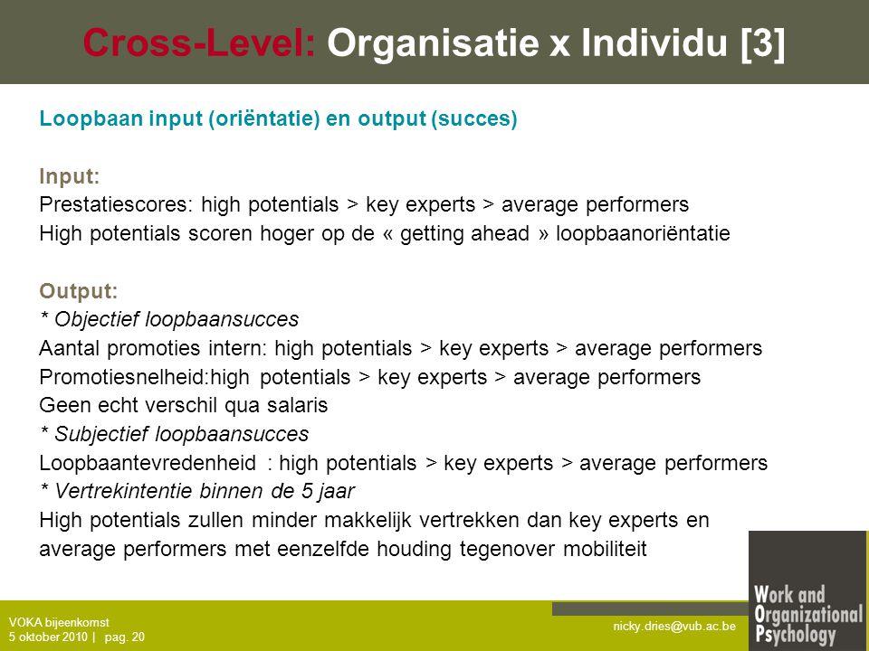 Cross-Level: Organisatie x Individu [3]